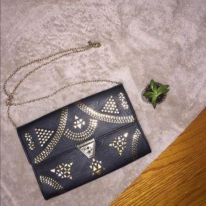 MMS Black & Gold Envelope Bag